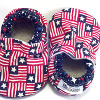 red white blue, 4th of July, American flag, Patriotic Baby Shoes, toddler shoes, stars and stripes