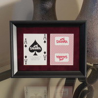 Sahara Las Vegas (CLOSED) 5x7 Blackjack? Spades Authentic Playing Card Display Matted FRAMED NF2910
