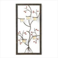 Framed Metal Tree Vine Candleholder Home Decor Gift