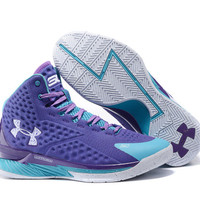 Men's Under Armour Stephen Curry One Father To Son Purple Basketball Shoes