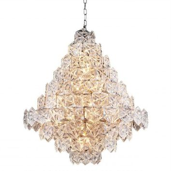 HEXAGONAL GLASS CHANDELIER | HERMITAGE - L