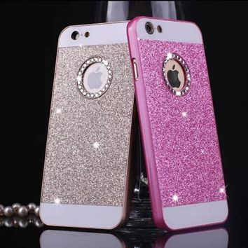 Hard Plastic back cover Personality fashion Sparkle Phone case for iphone 5 5s SE