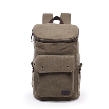 Back To School Comfort On Sale College Hot Deal Casual Outdoors Stylish Sports Unisex Canvas Big Capacity Camping Backpack [6304975940]