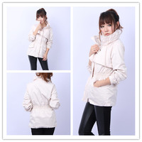 Women : golilla long sleeve cotton outerwear trench coat GHL0235