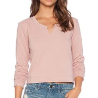 Lanston Split Sweatshirt in Blush