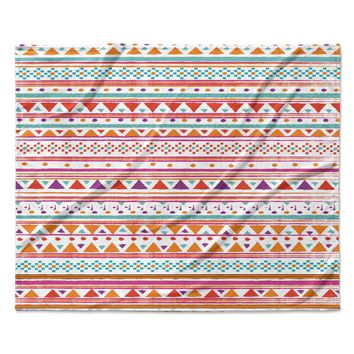 "Nika Martinez ""Native Bandana"" Fleece Throw Blanket"