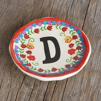 """D""  Initial  Trinket  Dish  From  Natural  Life"