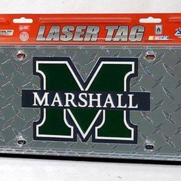 Marshall Thundering Herd NCAA Laser Cut Diamond Plate License