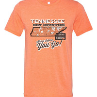 Tennessee Dry Counties - Know before You Go! Tri Blend Crew T Shirt