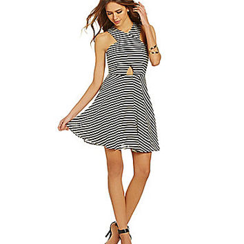 Gianni Bini Chloe Striped Dress - Black/White