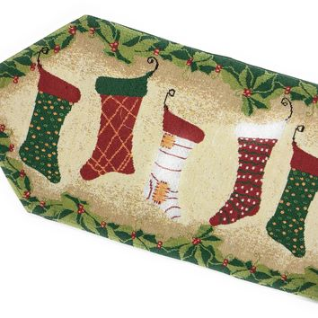Tache Hang My Stockings By the Fireplace Table Runners (DB12910)