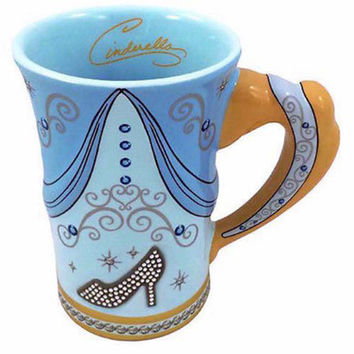 disney parks cinderella princess signature dress mug new