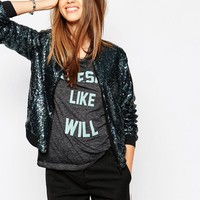 Eleven Paris Bomber Jacket in Sequin