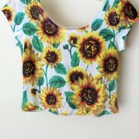 Olivia Sunflower Crop Top from Shop Gracie