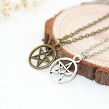 Fashion Jewelry Vintage Charm Supernatural Dean necklace For Men And Women,original factory supply
