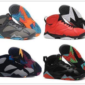 Air Jordan Retro 7 French Blue Basketball Shoes Raptor Hares Olympic Bordeaux Sport Sneaker Shoesfor Online Hot Size 8 13