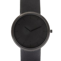ASOS Sleek Monotone Strap Watch - Black