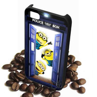 minion hello in door tardis dr who iPhone Case Galaxy Case iPad Case HTC Case