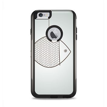 The Simple Vintage Fish on String Apple iPhone 6 Plus Otterbox Commuter Case Skin Set