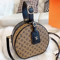 LV Louis Vuitton New fashion monogram leather round shoulder bag crossbody bag handbag