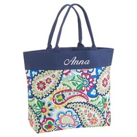 Beach Tote, Seaside Paisley