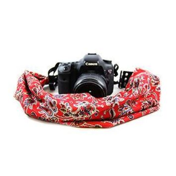 Liberty Red And Black Scarf Camera Strap - Capturing Couture - CASCARF-LBTY