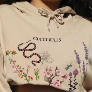 Gucci Women Print Hot Hoodie Cute Sweater