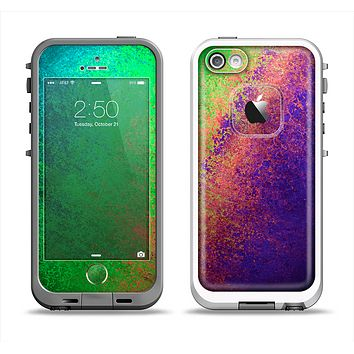 The Vivid Neon Colored Texture Apple iPhone 5-5s LifeProof Fre Case Skin Set