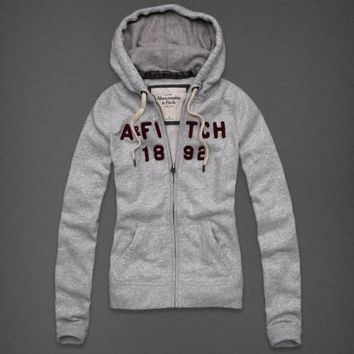 Abercrombie & Fitch Women Fashion Casual Cardigan Jacket Coat Hoodie-15