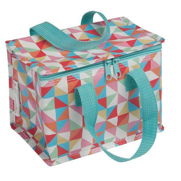 Recycled Lunch Bag Geometric Multicolored Geometric design Made from recycled plastic bottles