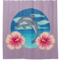 Dolphin Paradise Shower Curtain