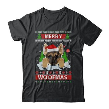 German Shepherd Merry Woofmas Ugly Christmas Sweater