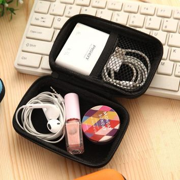 Urijk Earphone Wire Portable Multifunction Data Line Mass Storage Organization Creative Folding Box For Makeup Organizer Bag