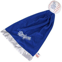MLB L.A. DODGERS SNUGGLEBALL BASEBALL WITH BLANKET BABY BOYS GIRLS