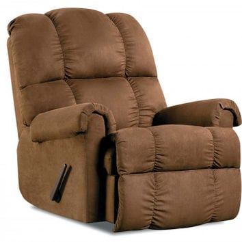 Soft Brown, Pleated Recliner Chair   Factory Select Chocolate Recliner   American Freight