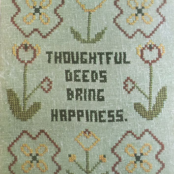 Vogart Crewel Creative Stitchery Kit 1975 Thoughtful Deeds Bring Happiness