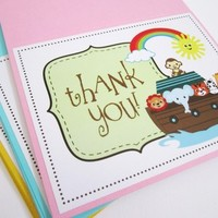 Noah's Ark Thank You Cards from Adorebynat