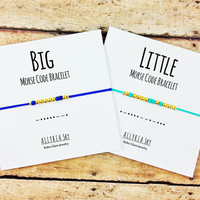 Big, Little Sorority Sister Morse Code Bracelets | Sorority Sister Reveal Gift Jewelry | Big Sister, Little Sister | Big, Little Gift