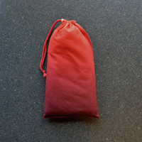 Pointe Shoe Bag, Red Ombre. Breathable cotton & mesh dance shoe bag.