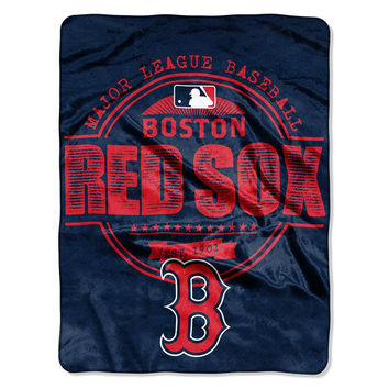 Boston Red Sox MLB Micro Raschel Blanket (Structure Series) (46in x 60in)