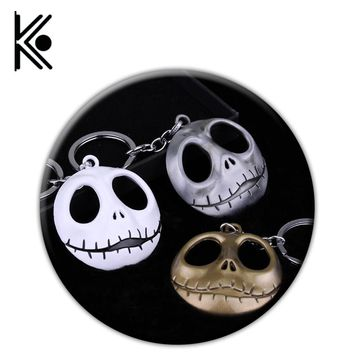 Free Shipping The Nightmare Before Christmas Jack Skull Mask Keychain Pendant Anime Hallowmas World Of Tank Keyring