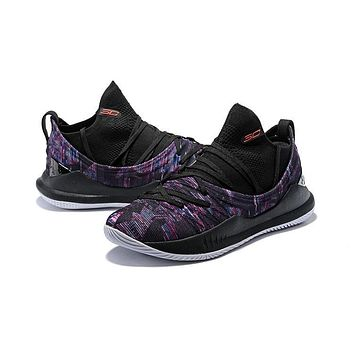 Under Armour Curry 5 Multi Black Men Sneaker