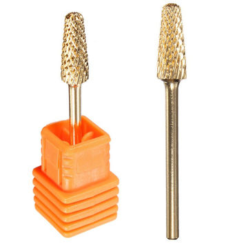 Cuspidal Nail Drill Bit Grinding Stone Head Ceramic Mounted Point Professional Nail Tools Electric Manicure Cutter Nail File
