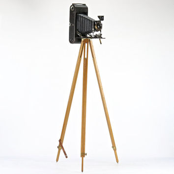 Wooden Tripod, Wood Camera Tripod, Vintage Camera Tripod, Kodak Camera Tripod, Vintage Camera Tripod