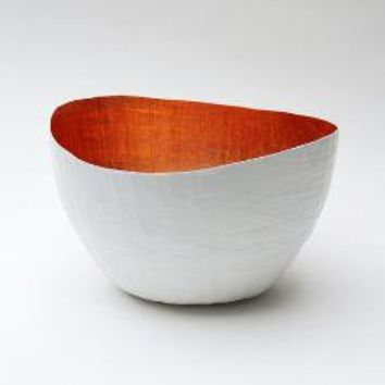 White Copper Paper Vessel by etco on Etsy