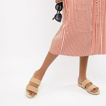 ASOS DESIGN Jura espadrille sliders at asos.com