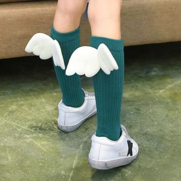 New Cute Long Kid Sock With Wing
