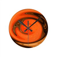 Rio Grande Sunset Abstract Wall Clock