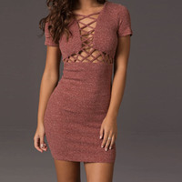 Fashion Casual slim  dress