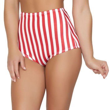 Pinup Style High-Waisted Shorts